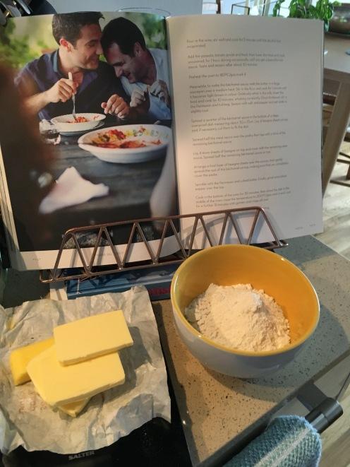 white sauce preparation