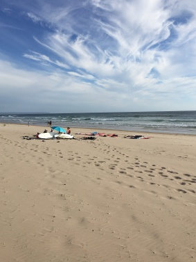 Surf crew at Praia Do Castello Beach