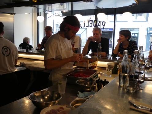 Chef preparing the starters