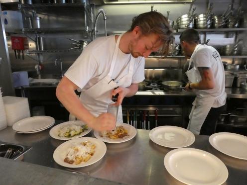 Serving up pasta in Padella
