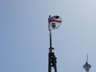 Sardinian flag on the boat