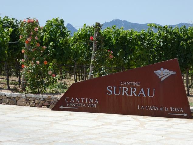 Cantine Surrau entrance