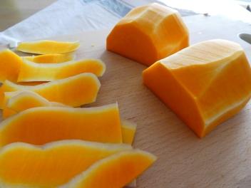 Butternut squash peeled