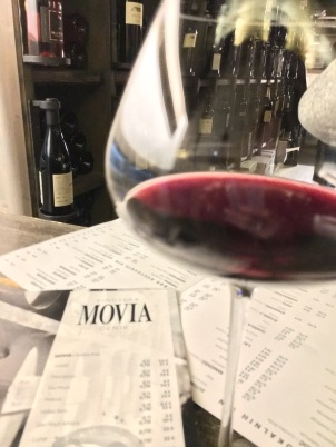 Indulging in more wine in a Slovenia wine bar, Movia