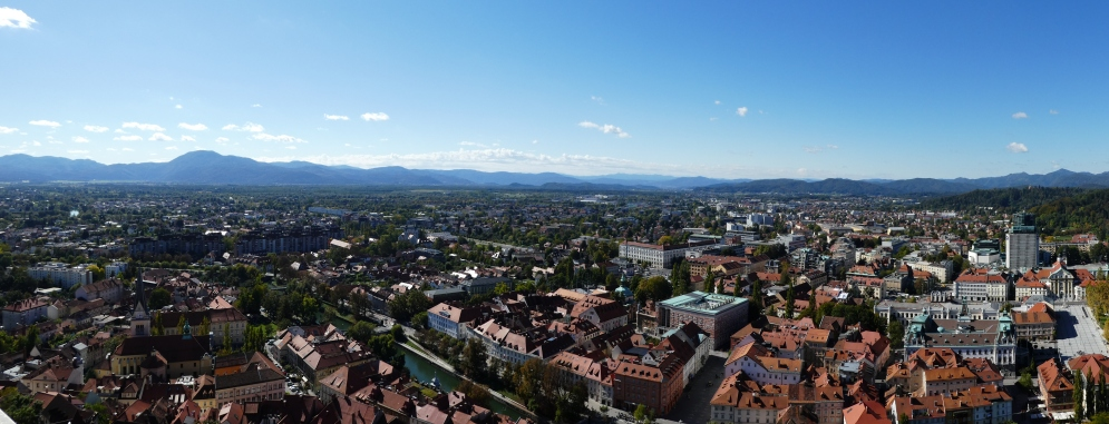 Panoramic view from Ljubljana Castle