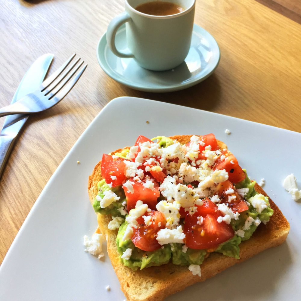avocado, feta, chilli, tomato