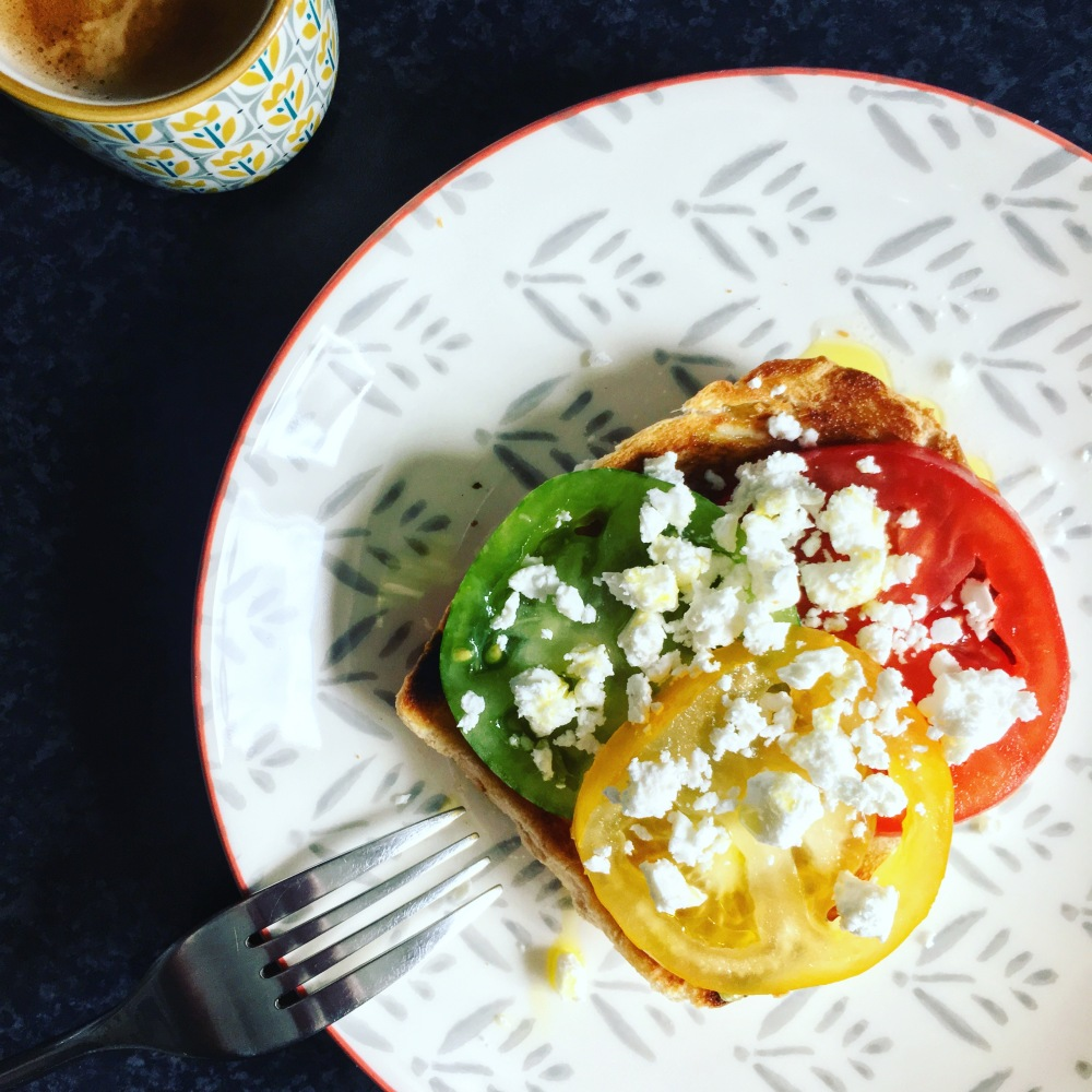 heritage tomatoes and feta