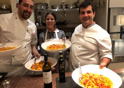 Chef Mario Chef Stefano and Irene from Zonin wines