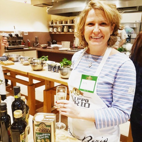 Kate at Sardinian Spring Feast with Filippo Berio