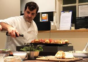 Chef Mario prepping