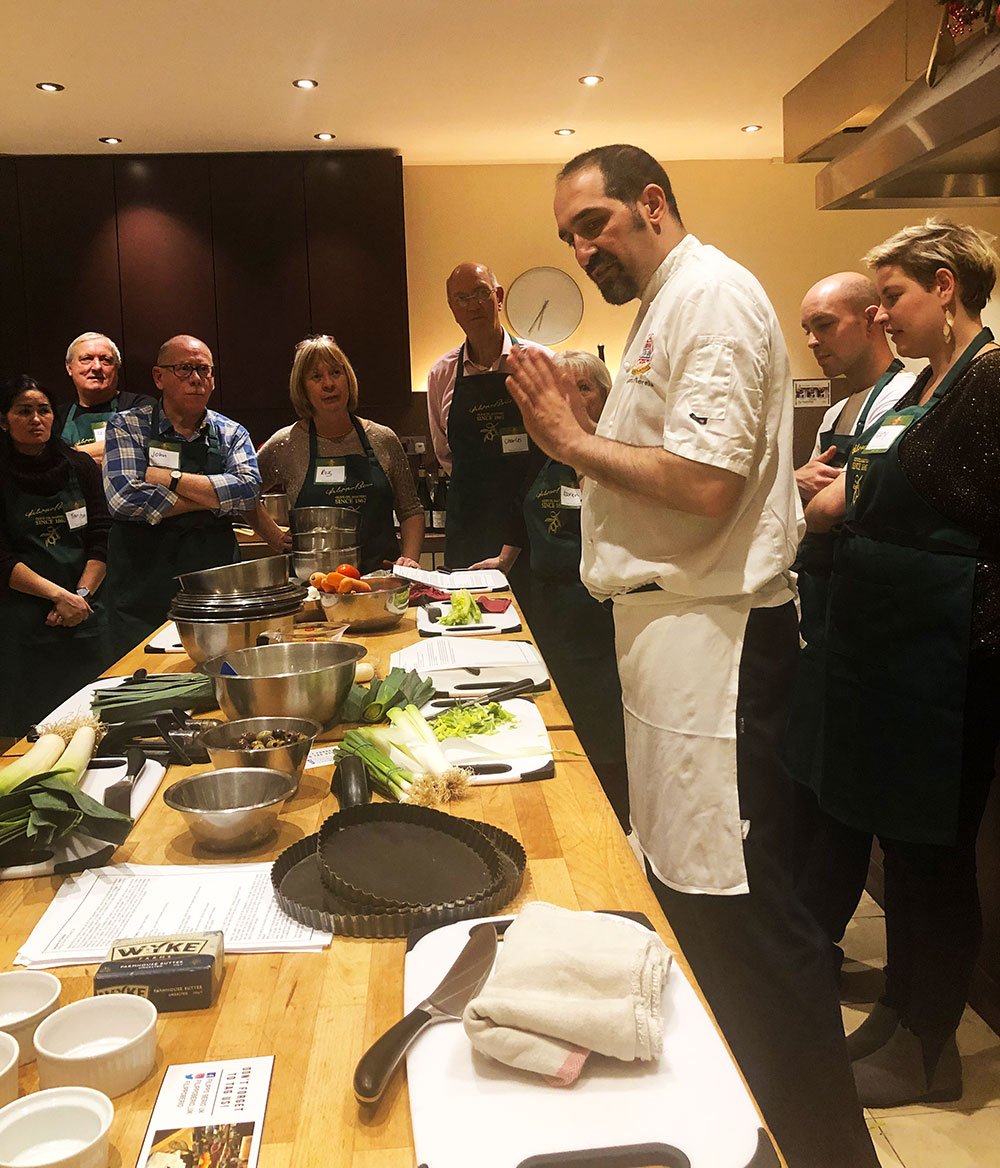Chef Stefano talks you through the menu and how to make the dishes