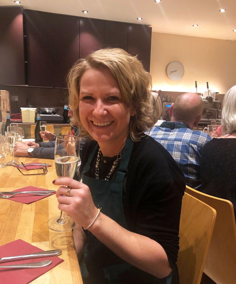 Kate at Filippo Berio's Olio Novello event