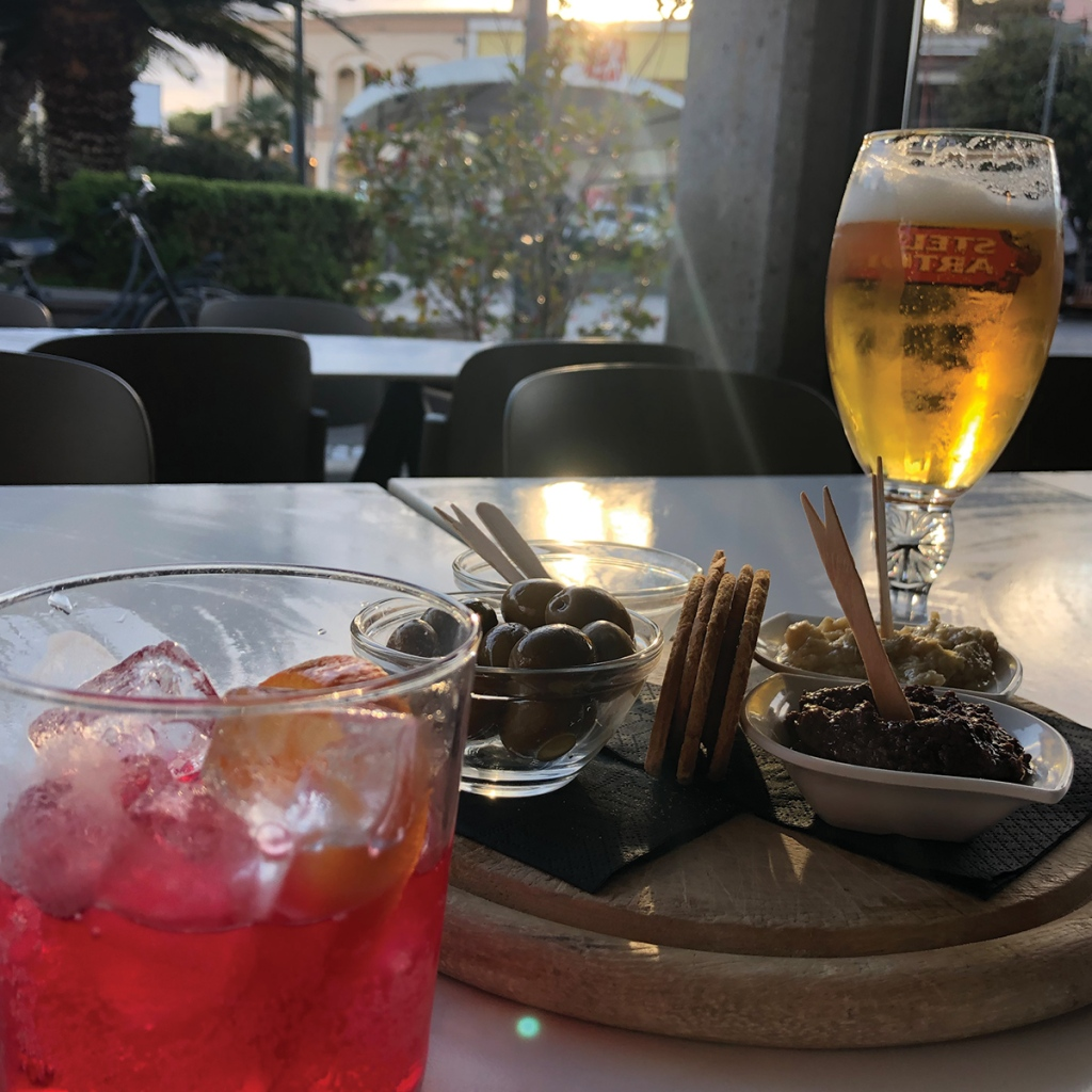 Aperitivo hour in Italy with a Campari and soda